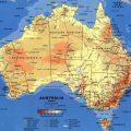 mapa geografico de australia