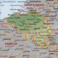 mapa geografico de belgica