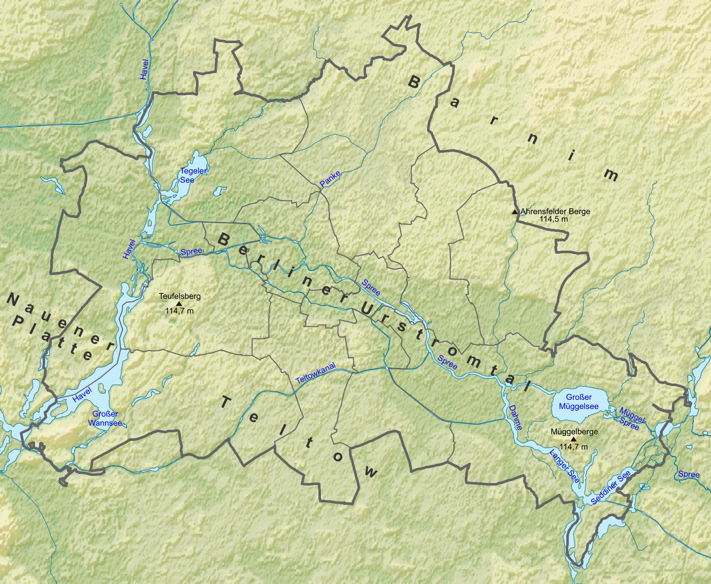 Mapa geográfico y político de Berlin