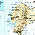 mapa geografico de ecuador.