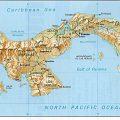 mapa geografico de panama