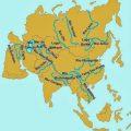 mapa hidrografico de asia
