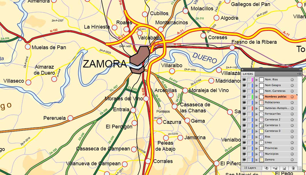 Mapa De Zamora Provincia.Mapa De Zamora Mapa Fisico Geografico Politico