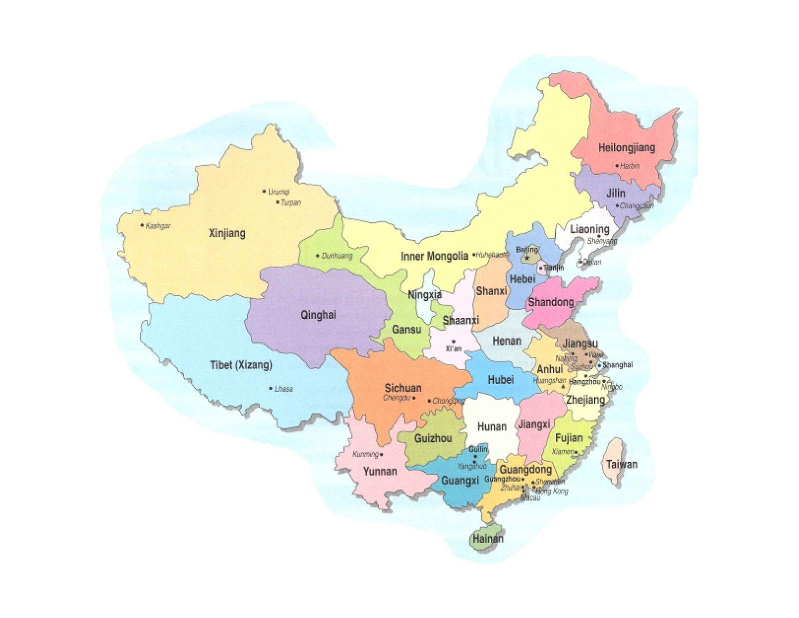Mapa Fisico De China.Mapa De China Mapa Fisico Geografico Politico Turistico