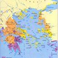 mapa politico de Grecia antigua