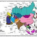 mapa politico de asia..