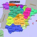 mapa politico de asturias