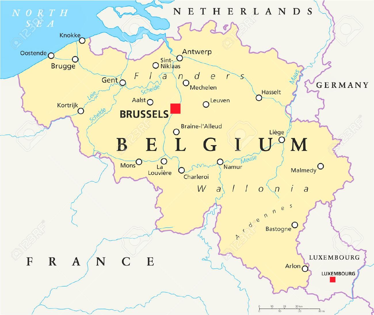 mapa de belgica Mapa de Belgica   Mapa Físico, Geográfico, Político, turístico y  mapa de belgica