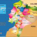 mapa politico de ecuador