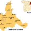 mapa politico de zaragoza