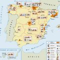 mapa tematico de espana