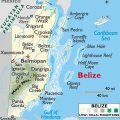 mapa topografico de belice