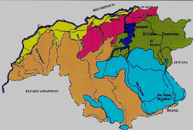 Mapa de bolivar mapa fsico geogrfico poltico turstico y mapa topografico de bolivar altavistaventures Choice Image