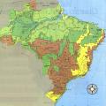 mapa topografico de brasil,