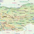 mapa topografico de bulgaria.