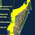 mapa topografico de madagascar
