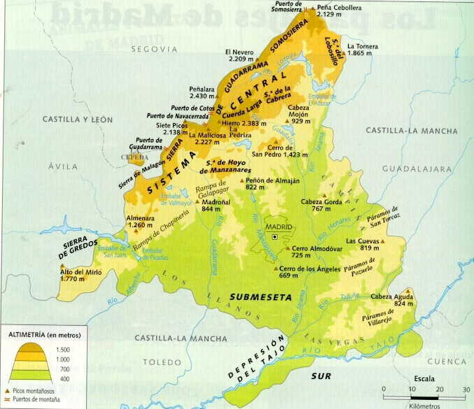 Mapa De Madrid Mapa Fisico Geografico Politico Turistico Y