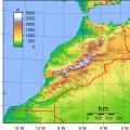 mapa topografico de marruecos