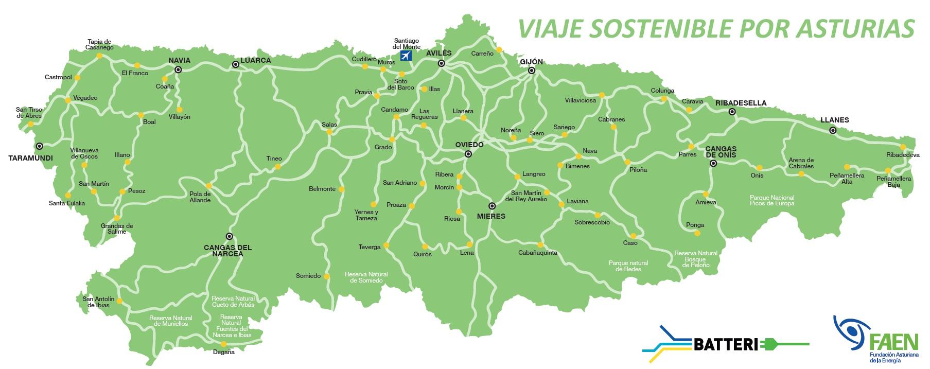 Mapa De Asturias Fisico.Mapa De Asturias Mapa Fisico Geografico Politico