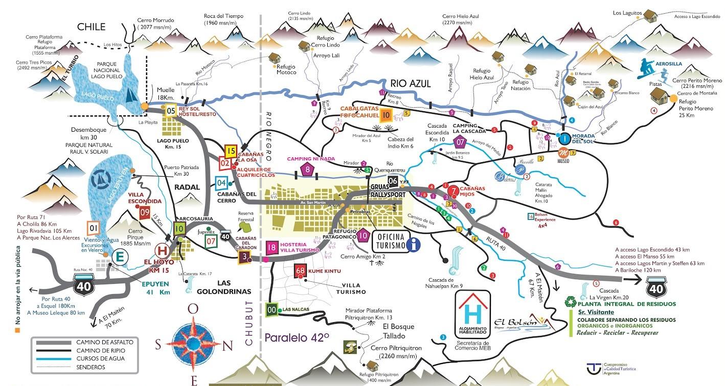 Circuito Grande Bariloche : Mapas de bariloche surface travel