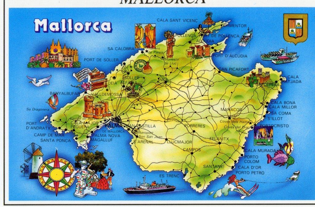 Mapa de Palma Mallorca   Mapa Físico, Geográfico, Político