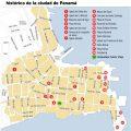 mapa turistico de panama
